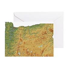 oregon-map Greeting Card
