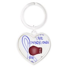StomachCancer_bear Heart Keychain