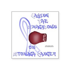 "StomachCancer_bear Square Sticker 3"" x 3"""