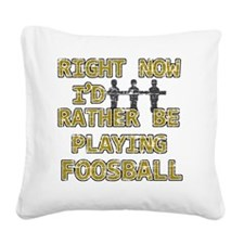 foosball Square Canvas Pillow
