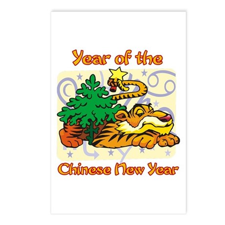Chinese New Year Year of the Tiger Postcards (Pack