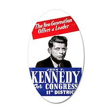 ART JFK for Congress 35x21 Oval Wall Decal