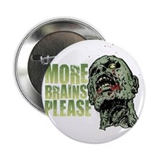 "Zombie 01 Dark 2.25"" Button"