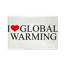 Funny I love global warming Rectangle Magnet