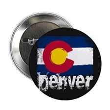 "Denver Grunge Flag 2.25"" Button"