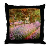 """Claude Monet"" Throw Pillow"