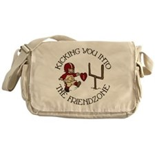 into-the-friendzone_round Messenger Bag