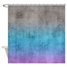 Rose Blue Shower Curtain