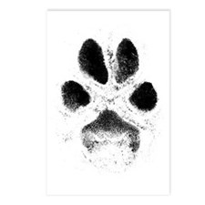 Zoe Pawprint T Postcards (Package of 8)