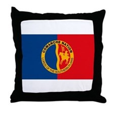 Comanche Flag Throw Pillow
