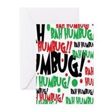 Bah Humbug Chr Greeting Cards