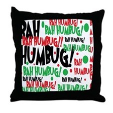 Bah Humbug Chr Throw Pillow