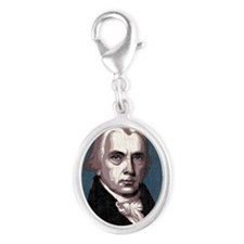 madison-LG Silver Oval Charm
