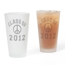 CO2012 Peace Gray Distressed Drinking Glass
