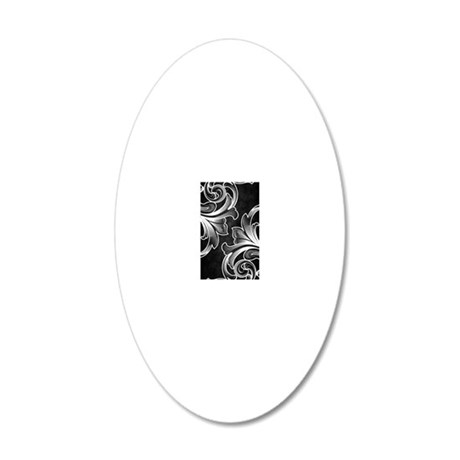 victorian iph black 20x12 Oval Wall Decal