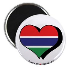 "I Love Gambia 2.25"" Magnet (100 pack)"