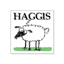 "Surprised Sheep3 Square Sticker 3"" x 3"""