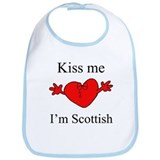 Kiss Me I'm Scottish Bib