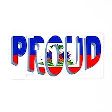 Proud Haitian Aluminum License Plate