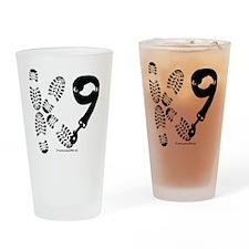 K9Footandleash Drinking Glass