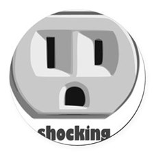 shockingEXTRAS Round Car Magnet