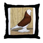 Red Bald West Throw Pillow