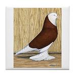 Red Bald West Tile Coaster