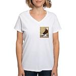 Red Bald West Women's V-Neck T-Shirt