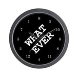 whatever Wall Clock 02 - black