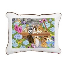 Bunnies Rectangular Canvas Pillow