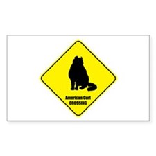 Curl Crossing Rectangle Decal