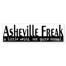 Asheville Freak Bumper Sticker