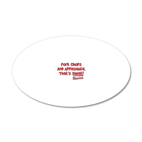 pork-chops-and-applesauce 20x12 Oval Wall Decal