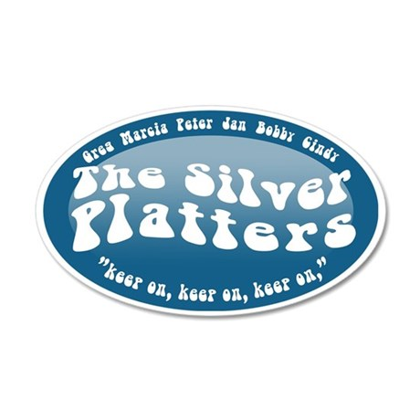 silver-platters 35x21 Oval Wall Decal