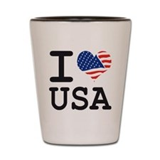 I LOVE USA - FLAG Shot Glass