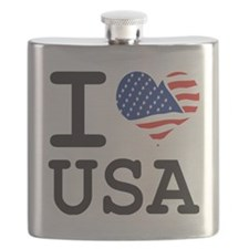 I LOVE USA - FLAG Flask