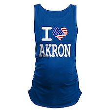 I LOVE AKRON Maternity Tank Top