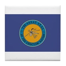 Choctaw Flag Tile Coaster