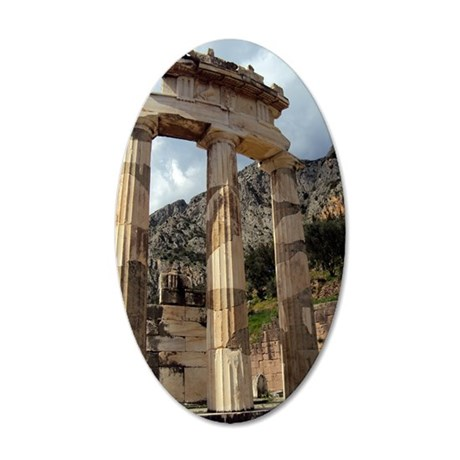 The temple of Athena Pronaea 35x21 Oval Wall Decal