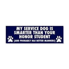 Cute Deaf dog Car Magnet 10 x 3