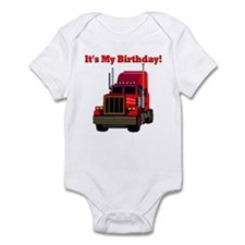 Semi Truck Birthday Infant Bodysuit