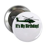Army Helicopter Birthday Button