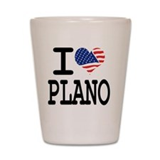 I LOVE PLANO Shot Glass