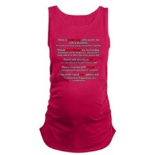 Service Dog Etiquette Maternity Tank Top