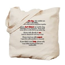 Service Dog Etiquette Tote Bag