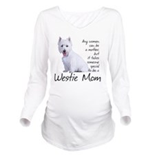 Westie Mom Long Sleeve Maternity T-Shirt