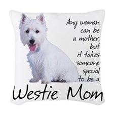 Westie Mom Woven Throw Pillow