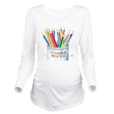 Colored Pencils Long Sleeve Maternity T-Shirt