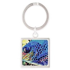 fish art Square Keychain
