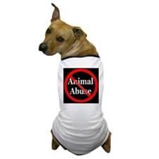 no_animal_abuse_black Dog T-Shirt